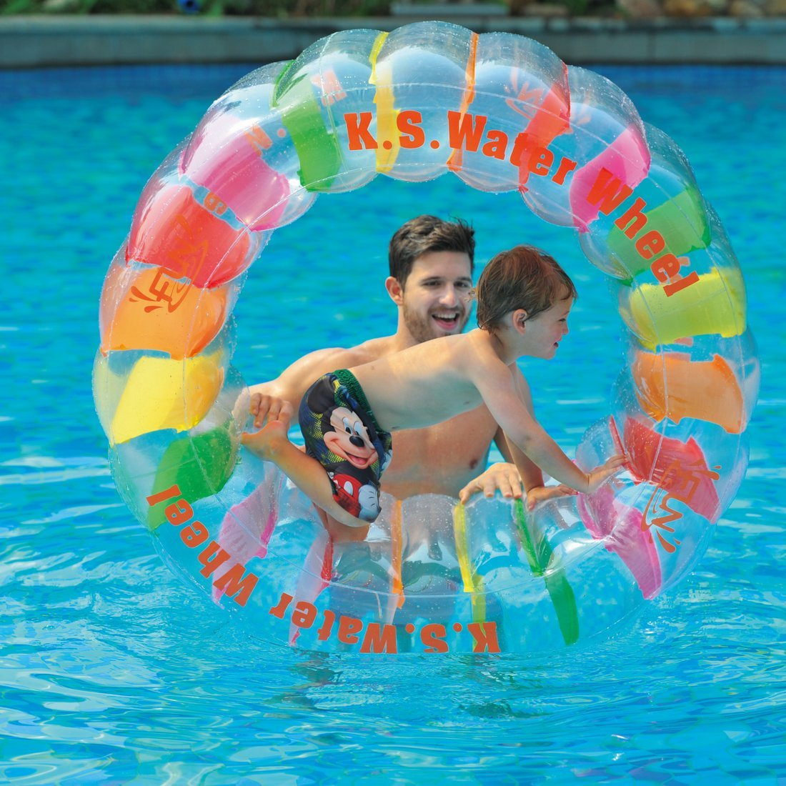 Product details of new inflatable floating swim ring kids children toy - Amazon Com Water Wheel Giant Inflatable Swimming Pool Water Wheel Toy 49 2 X 33 Toys Games