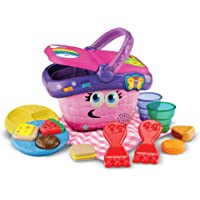 LeapFrog Shapes and Sharing Picnic Basket (Frustration Free Packaging), Pink, Great Gift For Kids, Toddlers, Toy for Boys and Girls, Ages Infant, 1, 2, 3