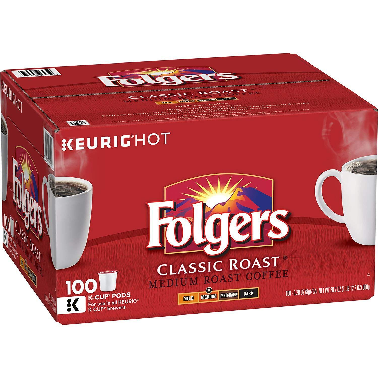 Folgers Classic Roast Coffee (100 K-Cups) by Folgers (Image #1)