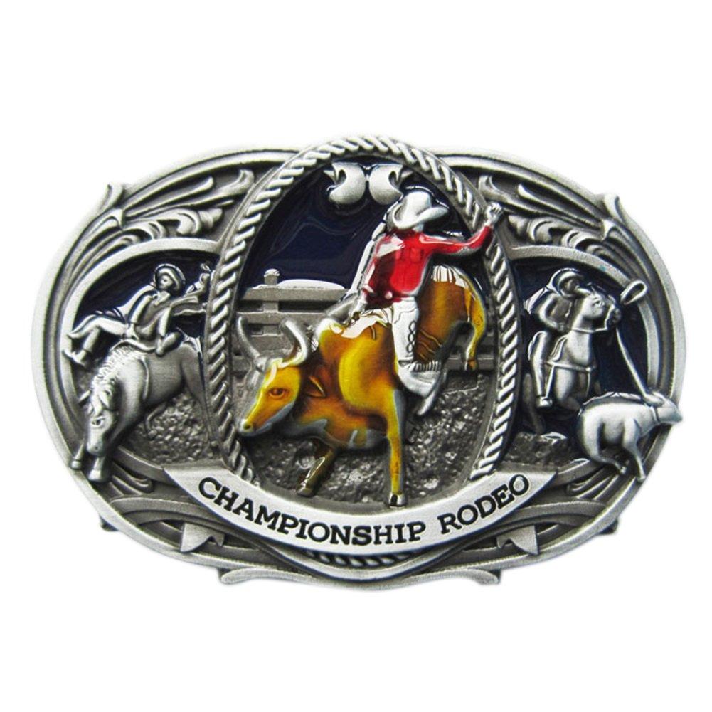 New Vintage Enamel Western Rodeo Championship Belt Buckle Gurtelschnalle