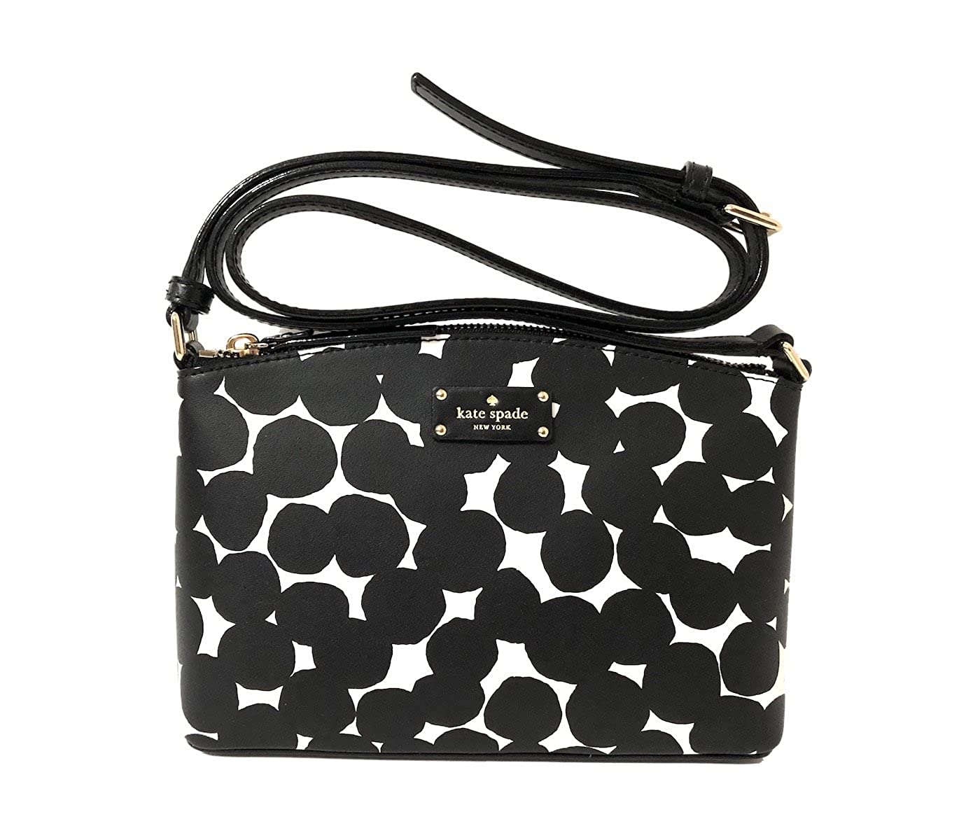 Kate Spade New York Grove Street Millie Leather Shoulder Handbag Purse (Black/Cream)