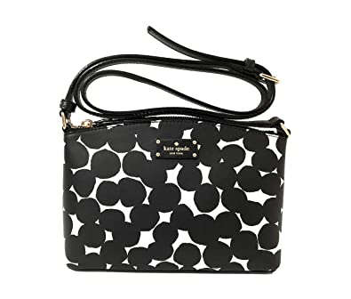 335c0b1ff9 Amazon.com  Kate Spade New York Grove Street Millie Leather Shoulder Handbag  Purse (Black Cream)  Shoes