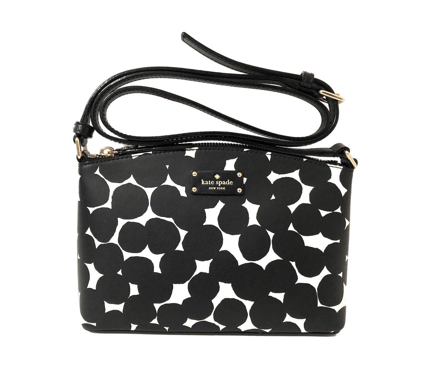 Kate Spade New York Grove Street Millie Leather Shoulder Handbag Purse (Black/Cream)