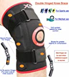 Knee Support Medical Hinged Brace Adjustable Neoprene Elasticated Knee Support Sleeve Open Patella Strap Protector Pads Stabilising Medical Injury Recovery Rheumatic Knee pains strains sprains Compression Copper Arthritis Squat Knee