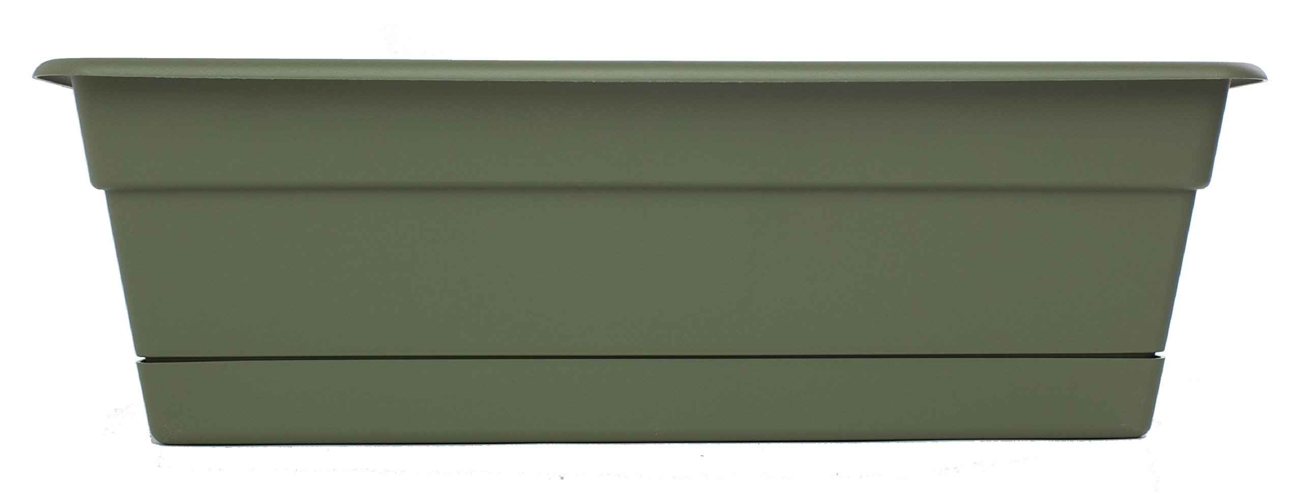 Bloem DCBT36-42 Dura Cotta Plant Window Box, 36-Inch, Living Green