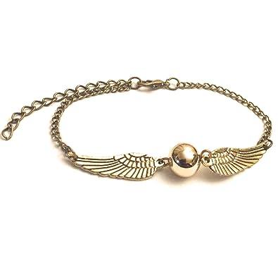 ee49a17756c3 Chamber3 7® Snitch alas de bronce y bolita de oro pulsera  Amazon.es   Joyería