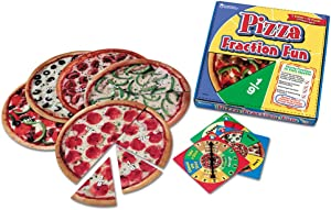 Learning Resources Pizza Fraction Fun Game, 13 Fraction Pizzas, 16 Piece Game, Ages 6+