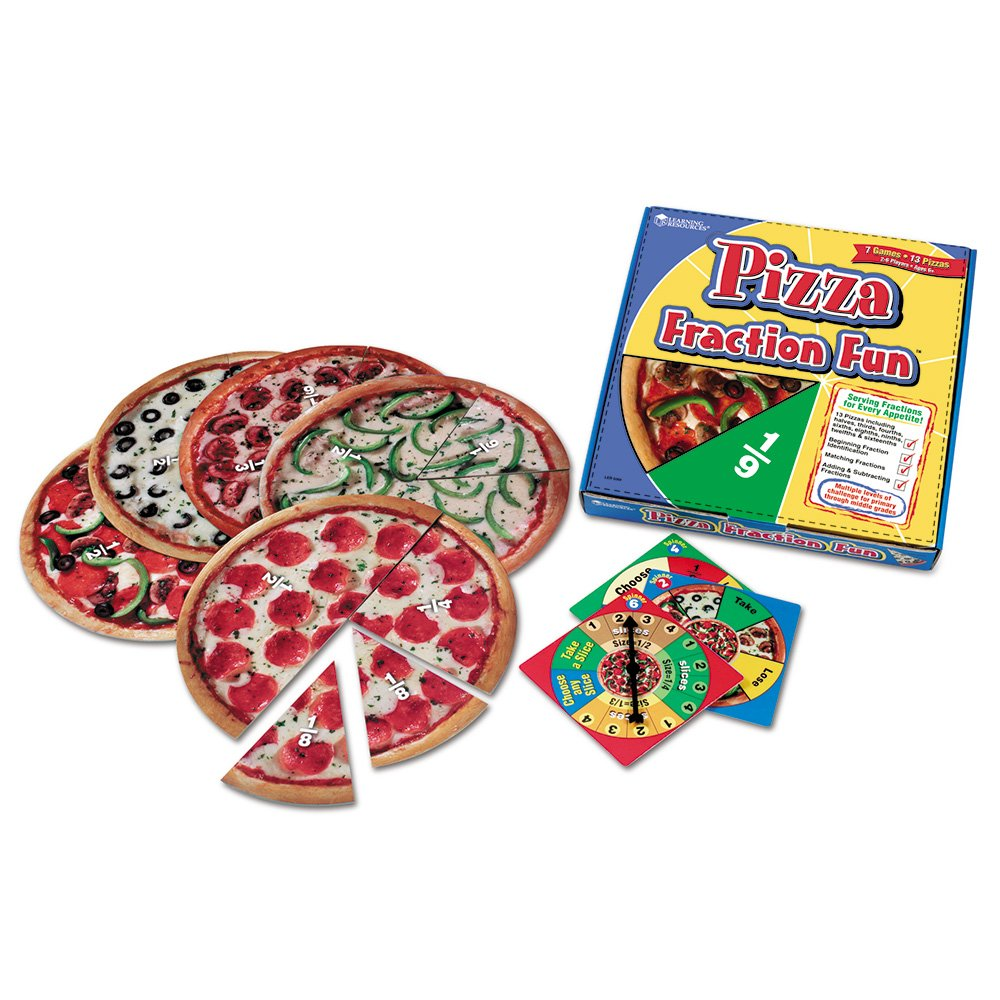 fractions pizza math manipulative real life world 3rd grade