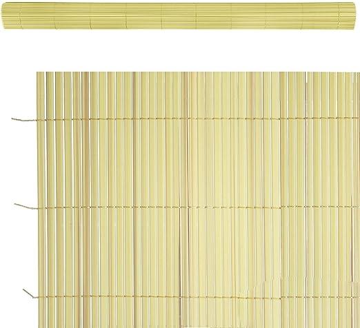Cañizo Artificial de ocultación para jardín de PVC Amarillo - LOLAhome: Amazon.es: Jardín