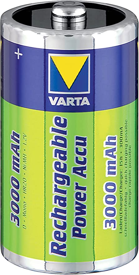 2er Blister Varta Power Akku Mono D R2U 3000 mAh