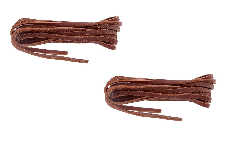 Shoeshine TAN leather shoe laces 80cm
