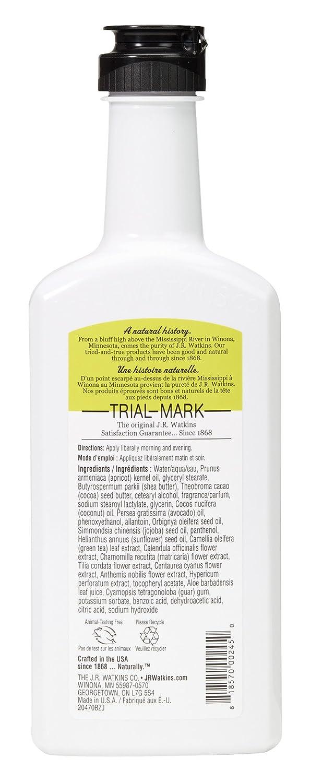 J.R. Watkins Natural Hand and Body Lotion, Lemon Cream, 11 oz, Pack of 3