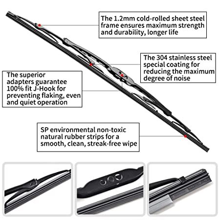 28+17 Front Window Wiper fit 2007-2013 Vehicles For Nissan Altima Windshield Wiper Blades OTUAYAUTO Factory Aftermarket