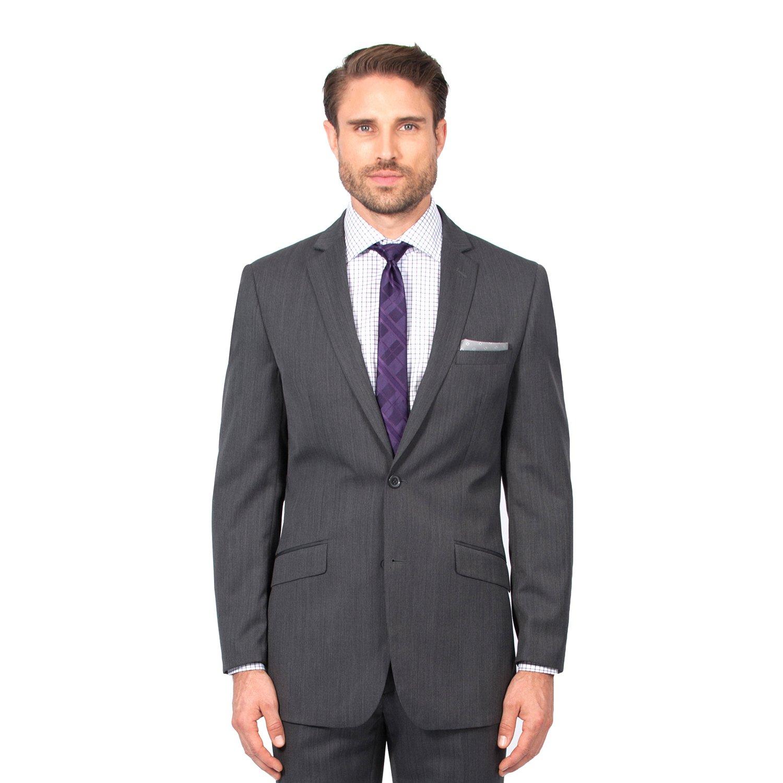 Combatant Gentlemen Men's Charcoal Slim Fit Suit 38 Long Charcoal by Combatant Gentlemen (Image #1)