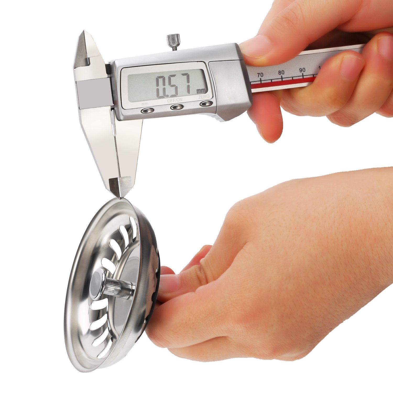 colador de fregadero Tap/ón de desag/üe para fregadero ba/ño 79,3 mm tap/ón de desag/üe para cocina escurridor de fregadero de acero inoxidable