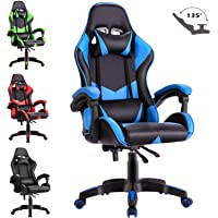 Advwin Executive Office Computer Gaming Chair Racer Recliner Chair Racing Seating Blue(60 * 60 * 115-125cm)