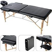 Todeco - Table de Massage Pliante, Table Professionnelle pour Thérapie - Dimensions: 186 x 71 x 62 cm