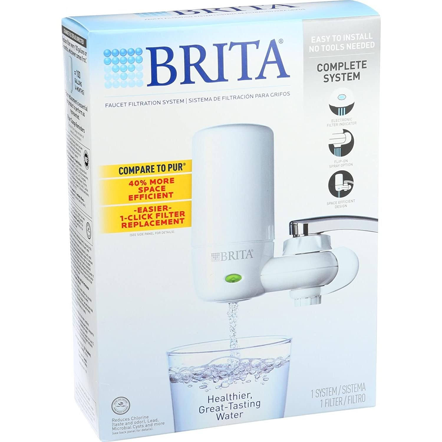 Amazon.com: Brita Advanced Faucet Filtration System - White - 1 ...