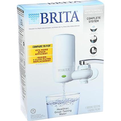 Amazon.com: Brita Advanced Faucet Filtration System - White - 1 ...