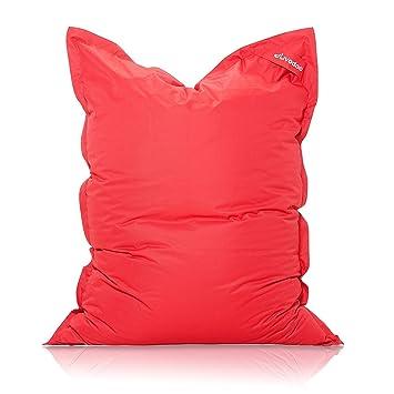 Livodoo Xxl Premium Riesen Sitzsack In Rot 140 X 180 Cm Indoor