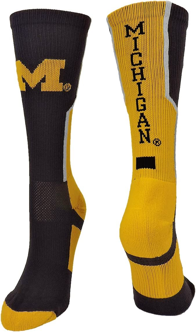 TCK University of Michigan Wolverines Socks Perimeter Crew
