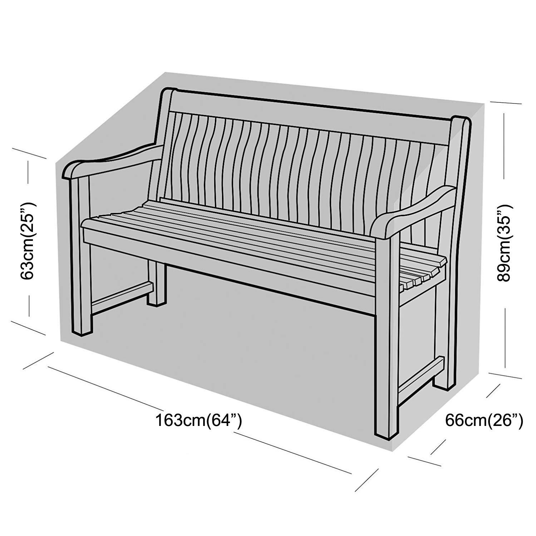 SIRUITON Abdeckung Schutzh/ülle f/ür B/änke 2-Sitzer Bankabdeckung Gartenbankabdeckung Anti-UV Beschichtung im Inneren Schwarzes 131x69x65//89 cm