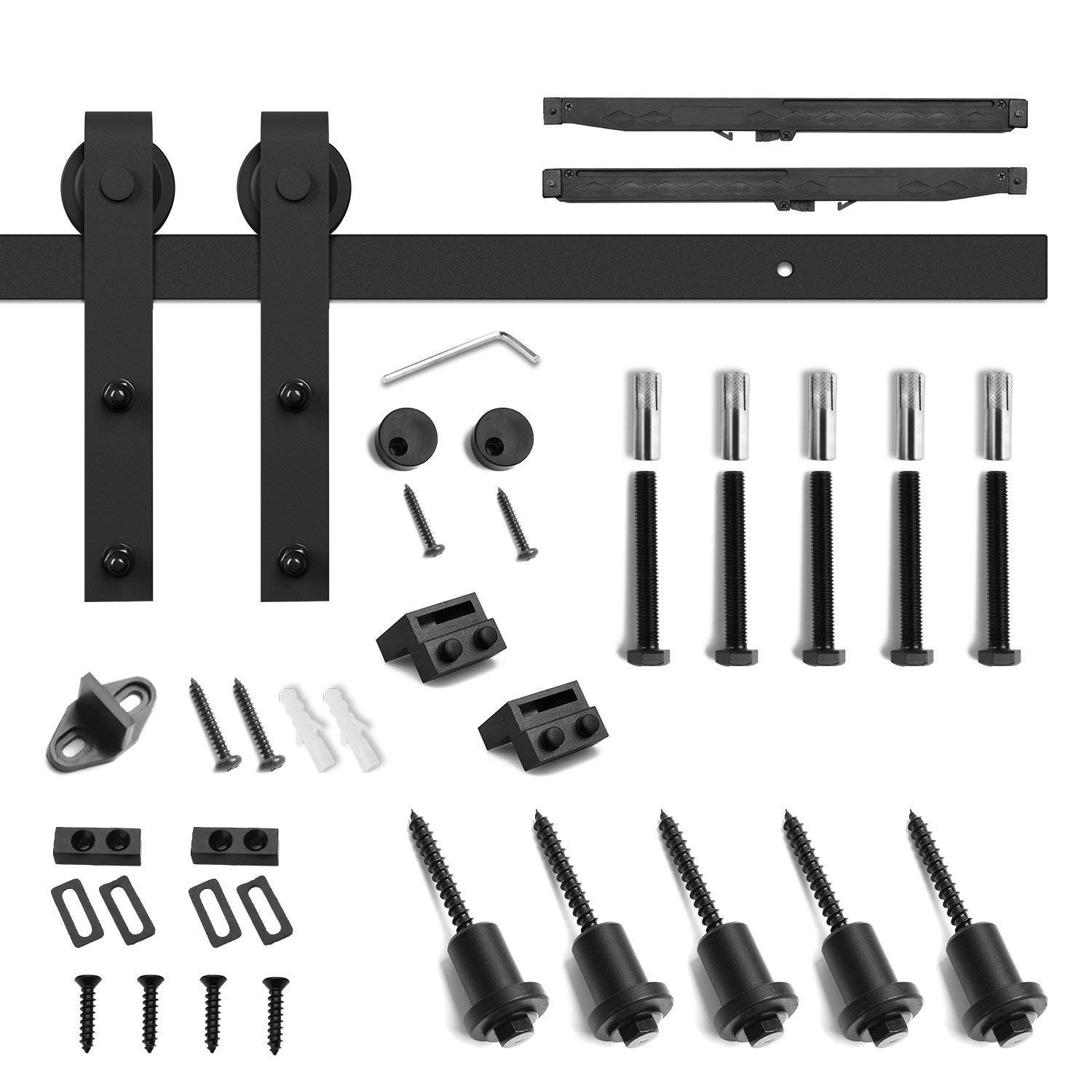 6.6ft Soft Close Heavy Duty Sturdy Sliding Barn Door Hardware Kit - Smoothly and Quietly - Simple and Easy to Install - Includes Step-By-Step Installation Instruction -Fit 36''-40'' Door Panel(J Shape) by SMARTSTANDARD (Image #5)