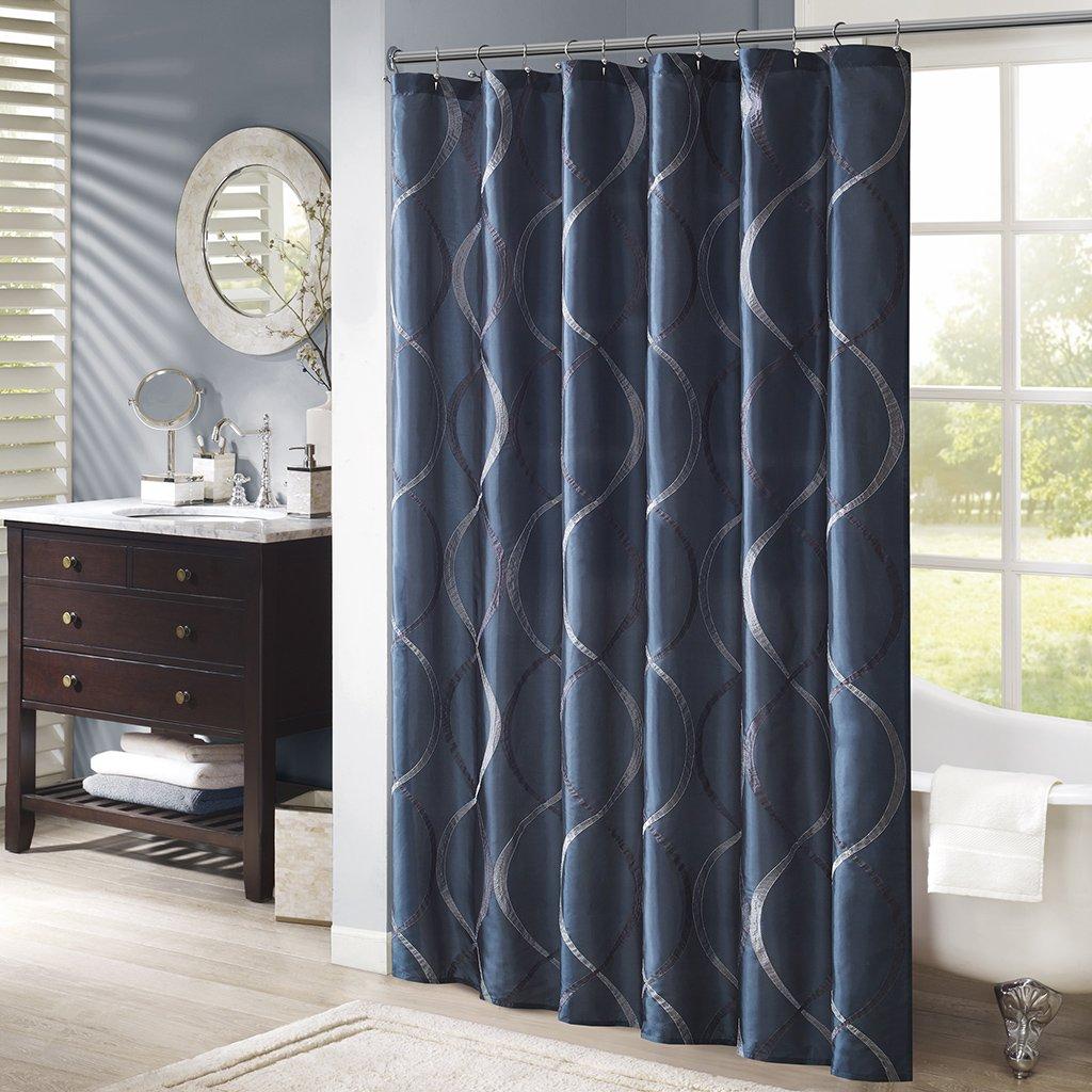Amazon.com: Madison Park MP70-1917 Serendipity Shower Curtain 72x72 ...