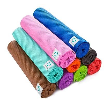 Esterilla de yoga / La colchoneta para yoga, pilates, gimnasia, fitness / La esterilla »Annapurna Comfort« es suave y antideslizante / Perfecta tanto ...