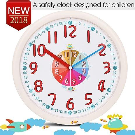 Wonderful Kid Wall Clock Baby Nursery Large Wall Clock In Kidu0027s Room Clock Bedroom  Silent Non Ticking