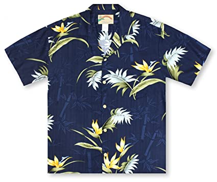 1d7c4003 Image Unavailable. Image not available for. Color: Paradise Found Bamboo  Paradise - Navy Hawaiian Shirt
