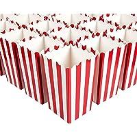 Juvale Mini cajas de palomitas de maíz (juego de 100) - Ideal para noches de cine, cumpleaños, Baby Showers - Rayas…
