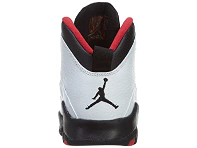 4b31b8d80cd Amazon.com | AIR Jordan 10 Retro Big Kids Style, White/Black/True Red, 7 |  Basketball