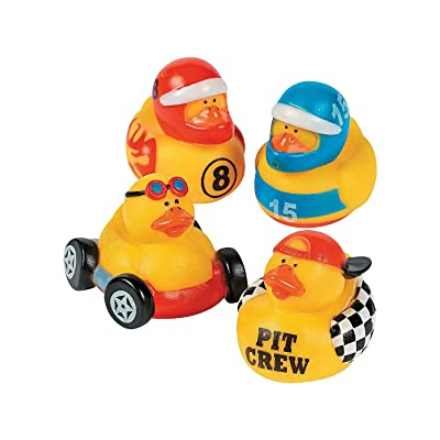 Fun Express Race CAR Driver Rubber Duckies - Toys - 12 Pieces: Toys & Games