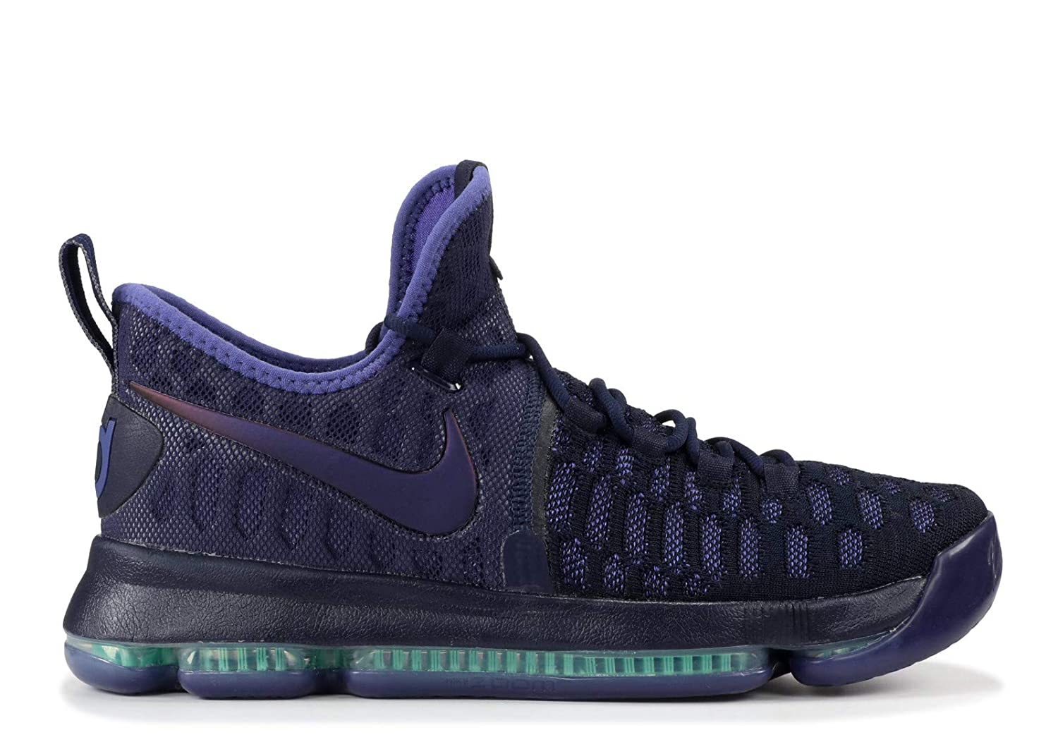 Amazon.com | Nike Mens Zoom KD 9, Obsidian/Dark Purple Dust - Black, 9 M US | Basketball
