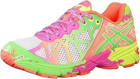ASICS - Zapatillas de Running de sintético para niña Lime/Blau ...