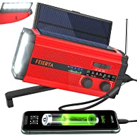$39 » Emergency Radio, Weather Radio, 5000mAh Hand Crank Radio, Solar Radio, Survival Radio,…