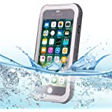 ヒラノiPhone 7防水ケース 最新版 防水カバー 防水保護等級 IP68 耐衝撃 防塵 深度防水(グレー)