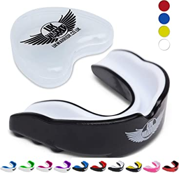 Sports Mouth Guard Teeth Protector Rugby Football Boxing MMA Gum Shield /& Case