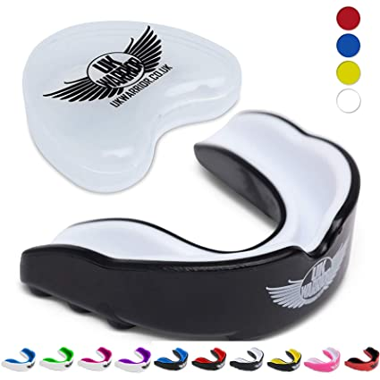 Double Mouth Guard Gum Shield Teeth Protector Boil Bit Football Boxing Rugby