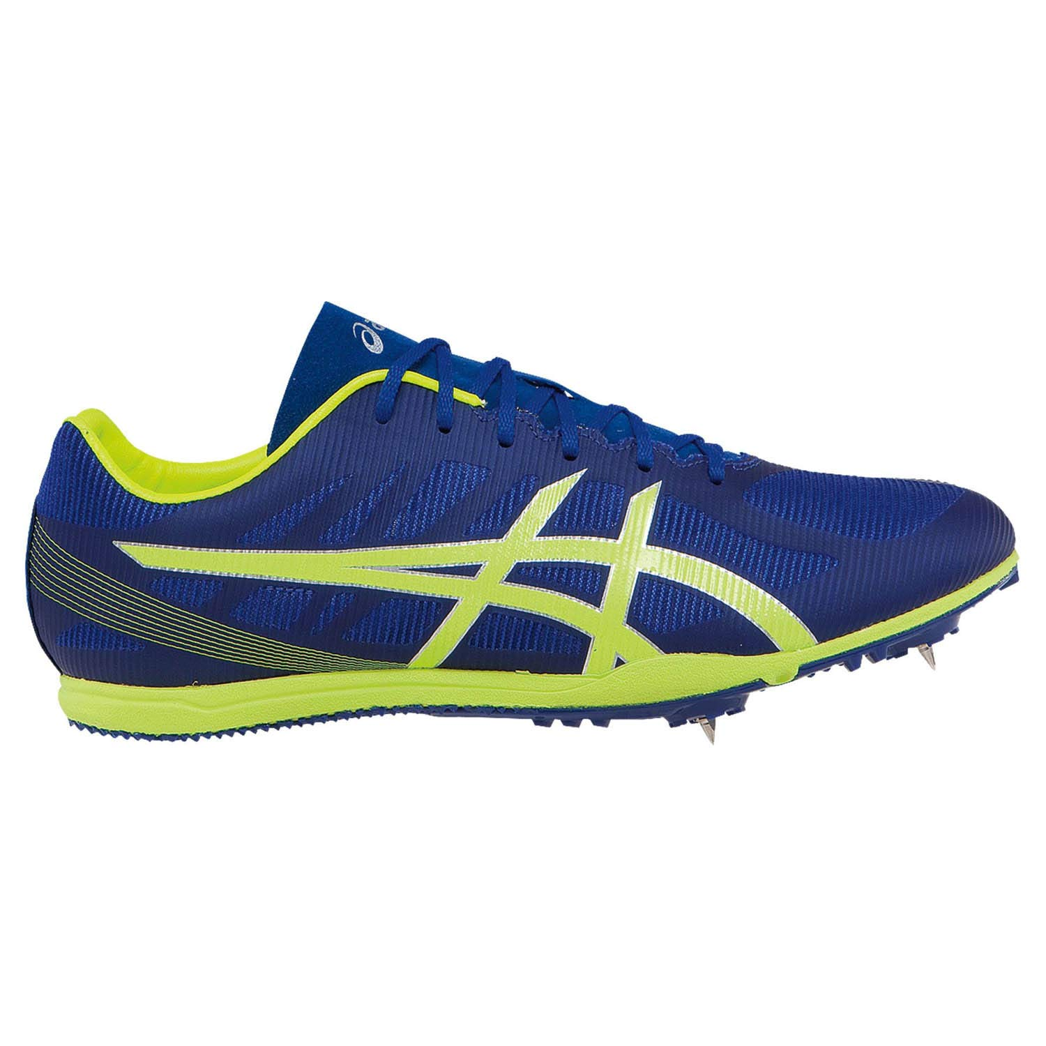 ASICS Men's Heat Chaser Track And Field Shoe,Deep Blue/Flash Yellow,9.5 M US by ASICS