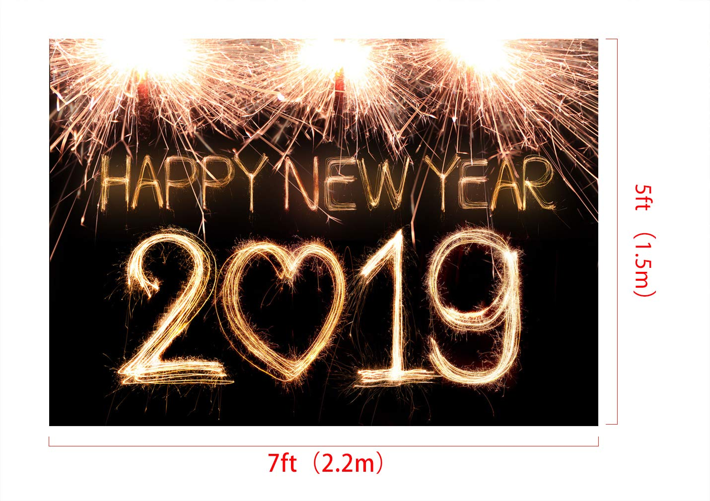 Amazoncom Kate 7x5ft 2019 New Years Backdrops For Photography New