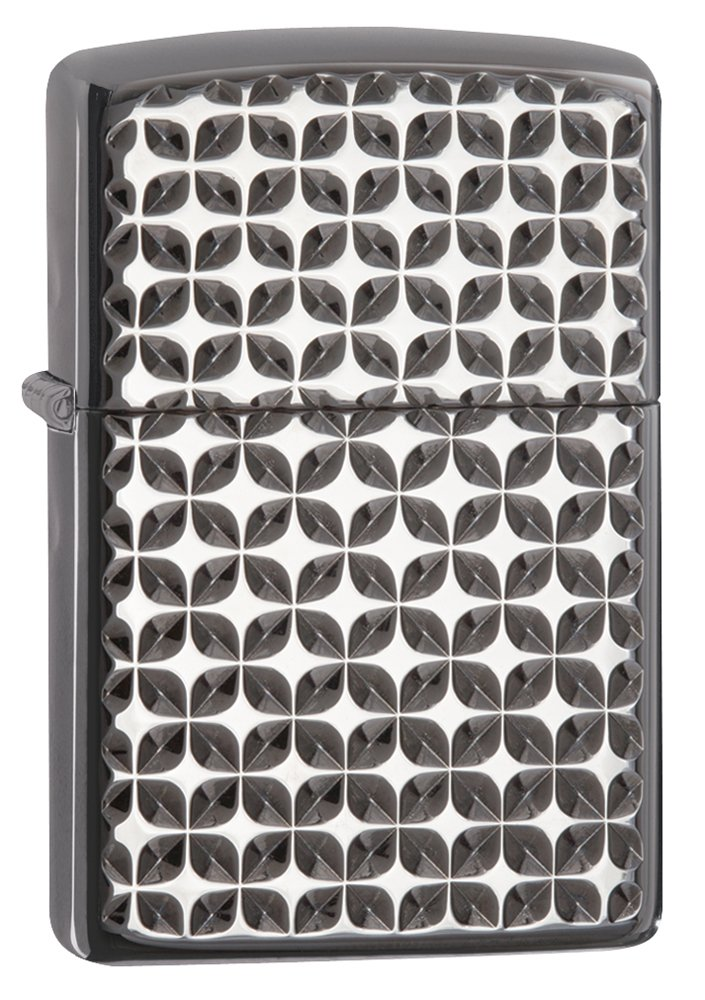 Zippo Armor Brite Cut High Polish Black Ice Pocket Lighter by Zippo
