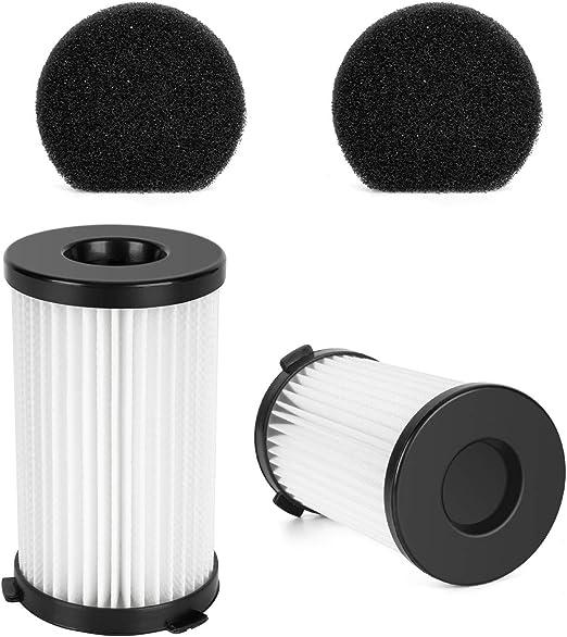 MooSoo 2 HEPA y 2 filtros de Esponja para aspiradora D600 con ...