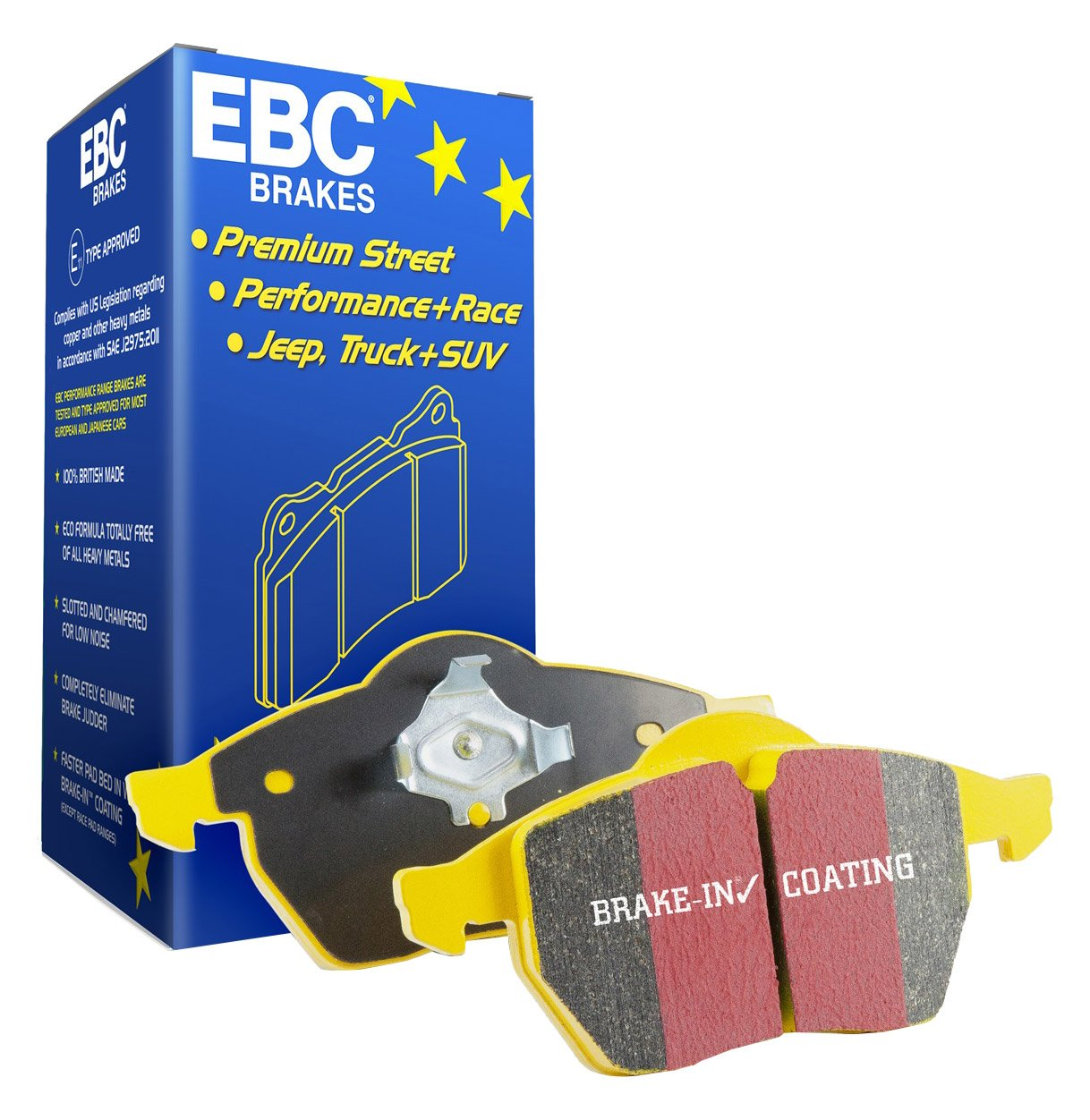 EBC Brakes DP41808R Yellowstuff Street and Track Brake Pad