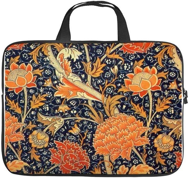 "Neoprene Sleeve Laptop Handbag Case Cover Cray Floral Art Nouveau Pattern 10 Inch Laptop Sleeve Case for 9.7"" 10.5"" Ipad Pro Air/ 10"" Microsoft Surface Go/ 10.5"" Samsung Galaxy Tab"