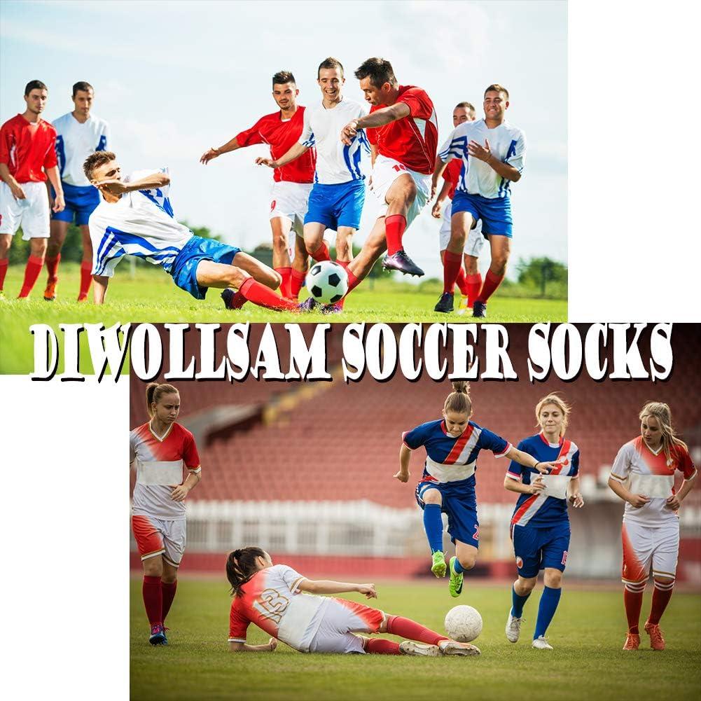 diwollsam Unisex Soccer Socks Knee High Long Tube Sport Team Socks 2//6//8 Pairs