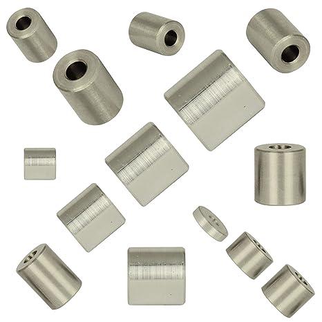 Falk-Schrauben 5 St/ück Distanzh/ülse 12x6,5x5 aus Aluminium Rohrbuchse |Abstandhalter Distanzring Distanzbuchse Made in Germany