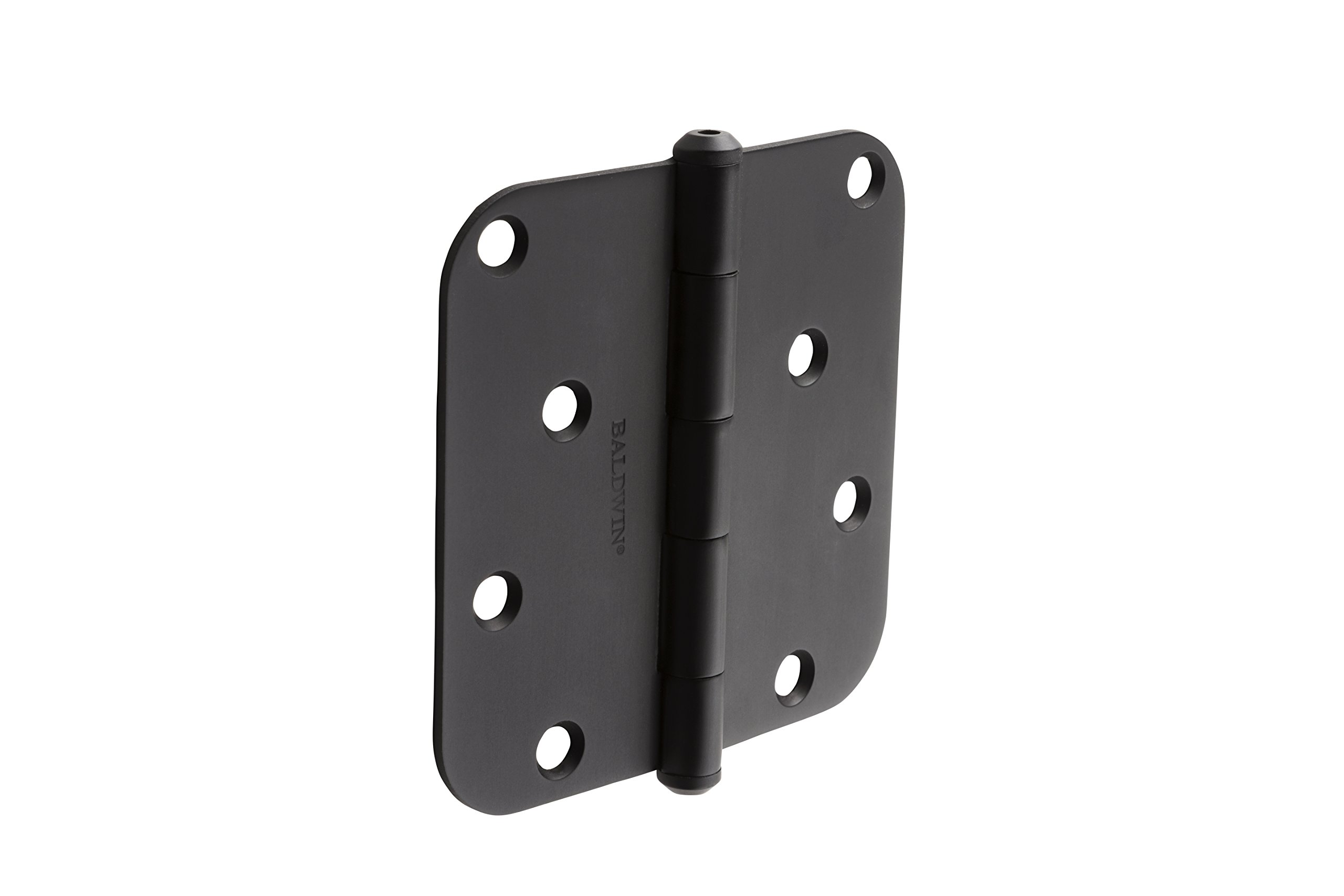 Baldwin 9BR7027-010 Reserve 4'' Contemporary 5/8 Rounded Hinge in Satin Black