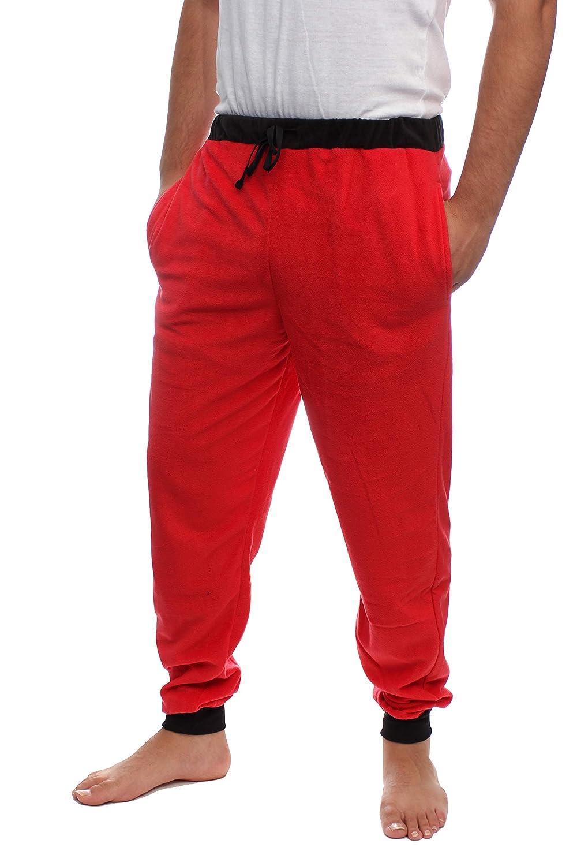 vmz fashion Mens Fleece Pajama Jogger Slim Fit (Lounge Pants) Ultra Soft Fabric with Draw String